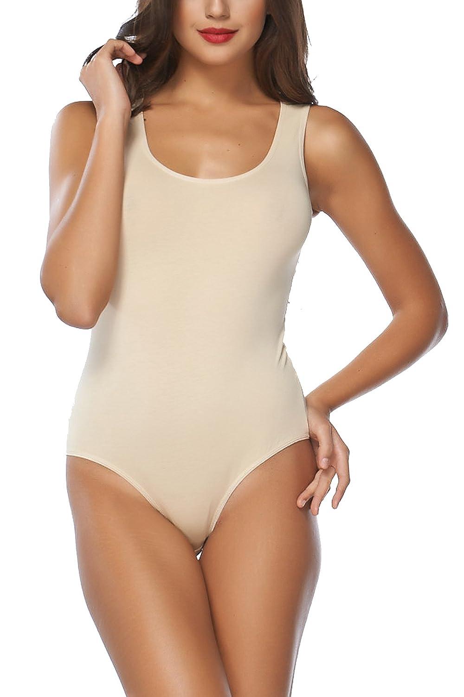 Elegance Built Up Shoulder Wide Strap Soft Stretchy Cotton Leotard/Bodysuits (2320)