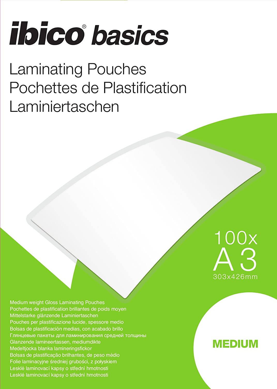 transparent medium Ibico 5101210 Laminierfolien f/ür Pr/äsentationen 100 St/ück A4