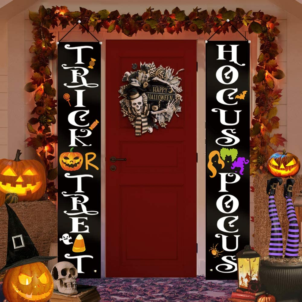 Halloween standing Porch signs spiders holiday decor webs costumes witches,glitter vinyl front porch ghosts VINYL ONLY
