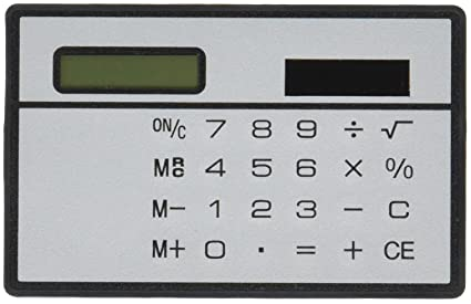 amazon com calculator credit card sized slimline travel home kitchen