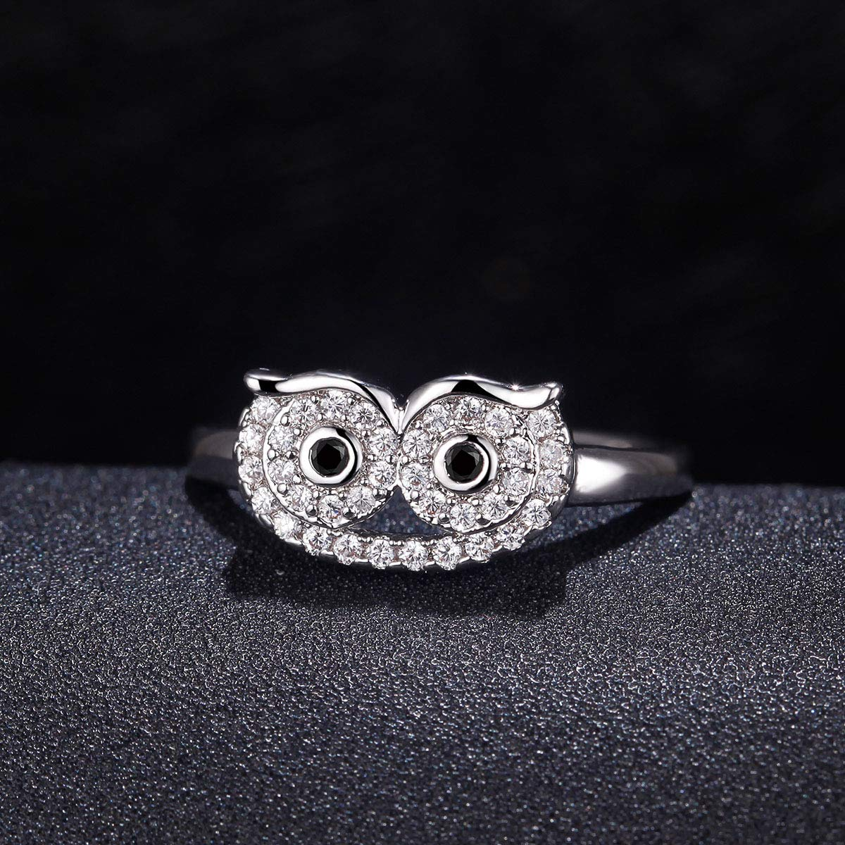 ATDMEI Owl Animal Rings 18k Gold Plated for Women Zircon Size 6-10 Jewelry