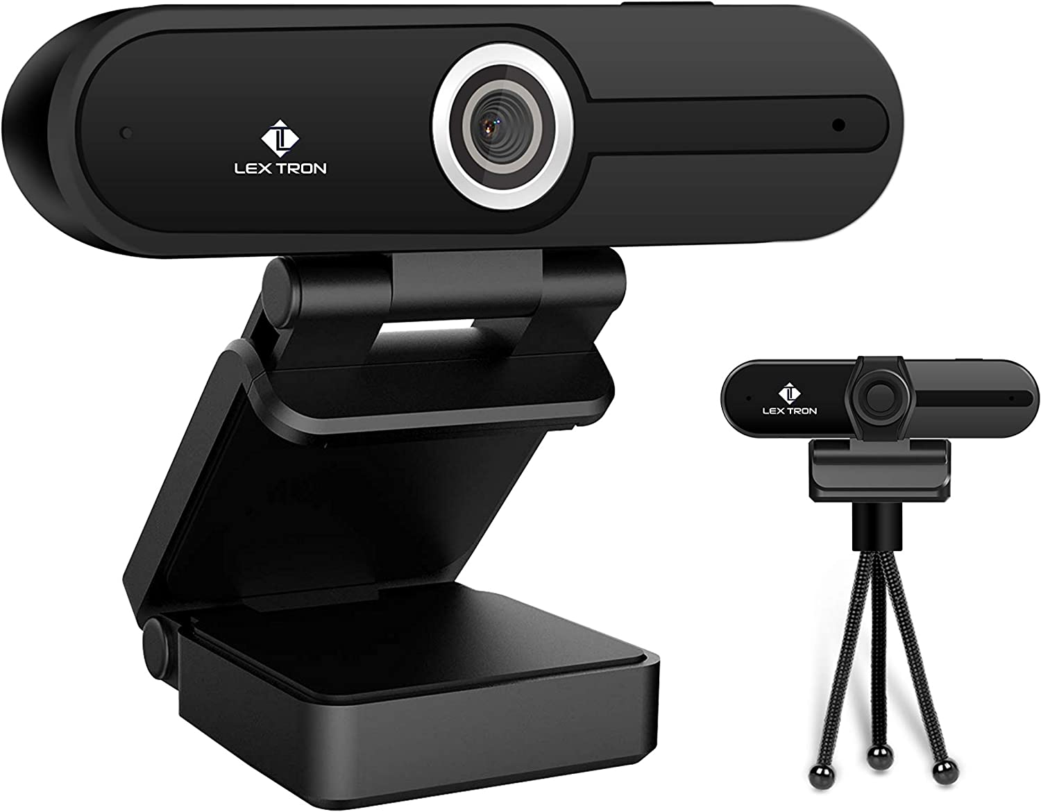 4K Webcam HD Computer Camera | 8MP 1080p Web Camera | Laptop and Desktop HD Webcam | Tripod & Privacy Cover | Mac and PC | Webcam with Microphone | Video Conference Calls & Recording | Web Cam New