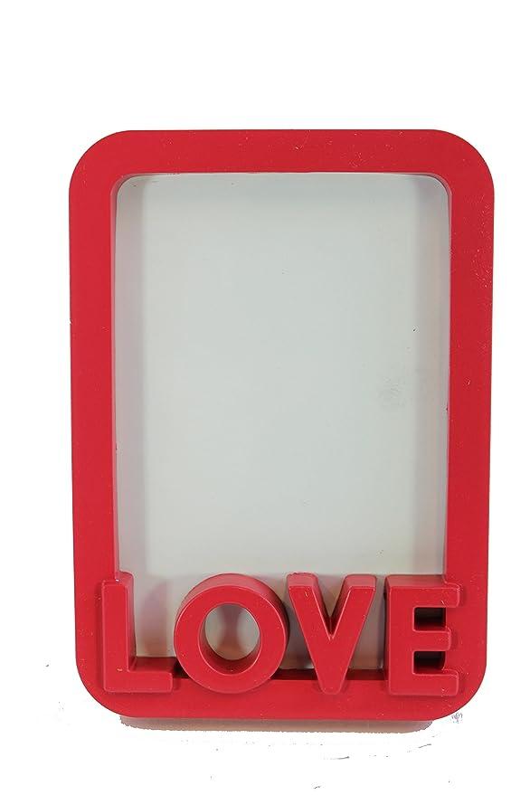 MinaWum I love 60th RETRO LOVE roter Bilderrahmen, 12x16,8x2cm ...