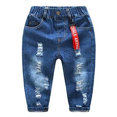 c305a860602 Amazon.com  Whobesta Broken Hole Pants Girls Boys Cave Jeans Children  Clothing  Clothing