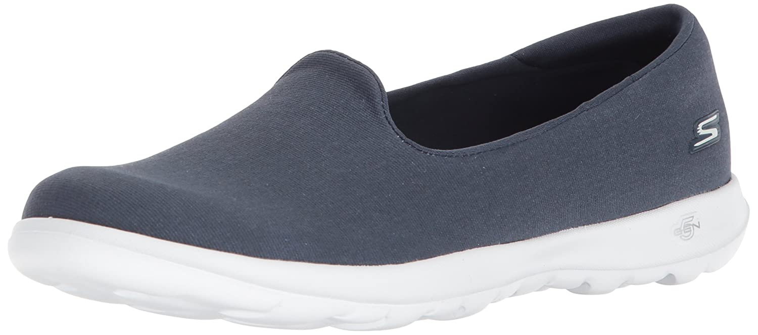 Skechers Women's Flat Go Walk Lite-15411 Loafer Flat Women's B071GVH7SH 5.5 B(M) US|Navy/White 0d85a4
