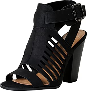 628391afc4e Amazon.com  MVE Shoes Women s Open Toe Cut Out Chunky Heel Sandal  Shoes
