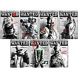 Batman Villain Wanted Poster Large Wall Decal Set