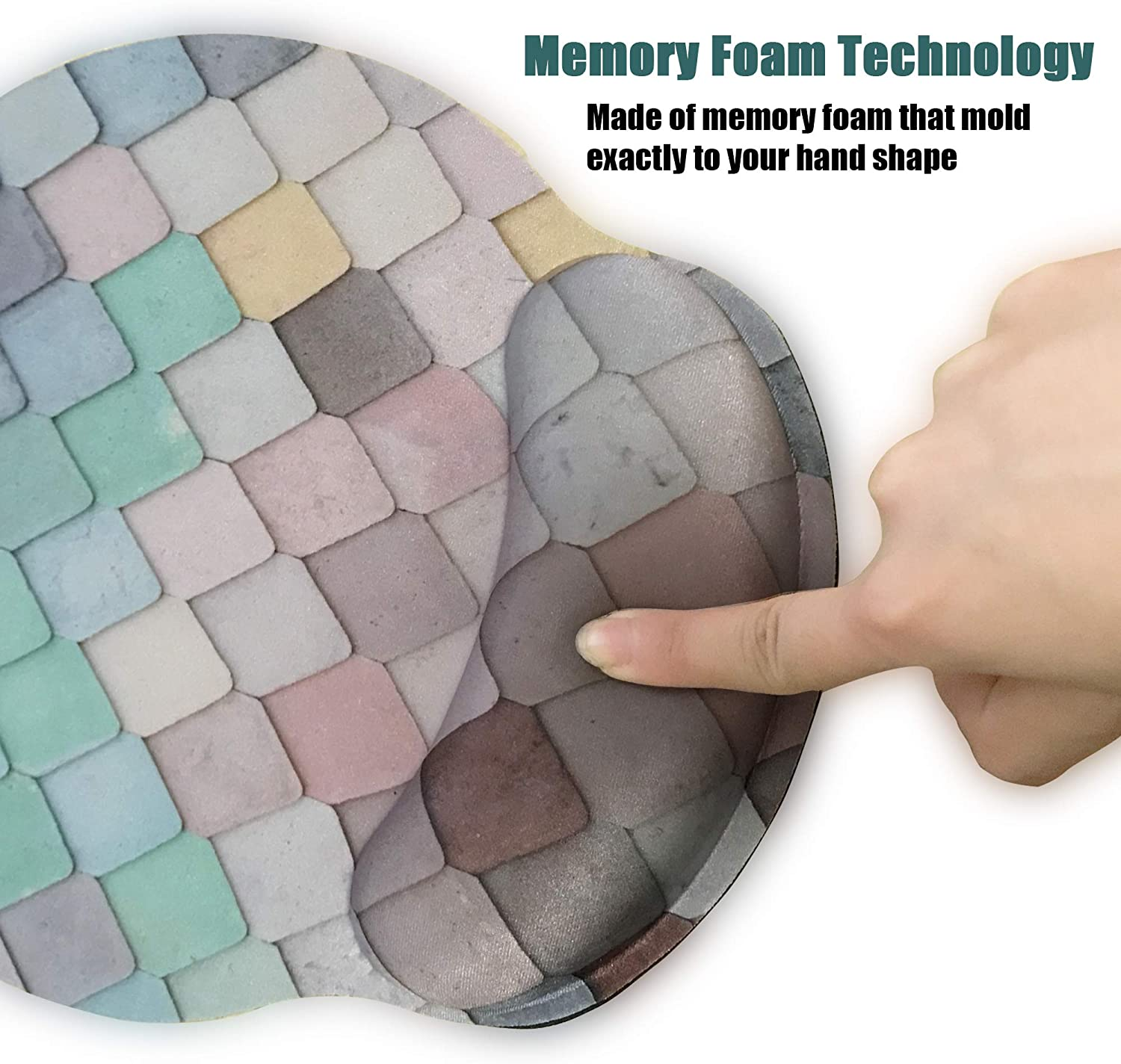 Working Ergonomic Mouse Pad with Wrist Support,Dooke Cute Wrist Pad with Non-Slip Rubber Base for Computer Laptop Home Office Gaming Easy Typing /& Pain Relief