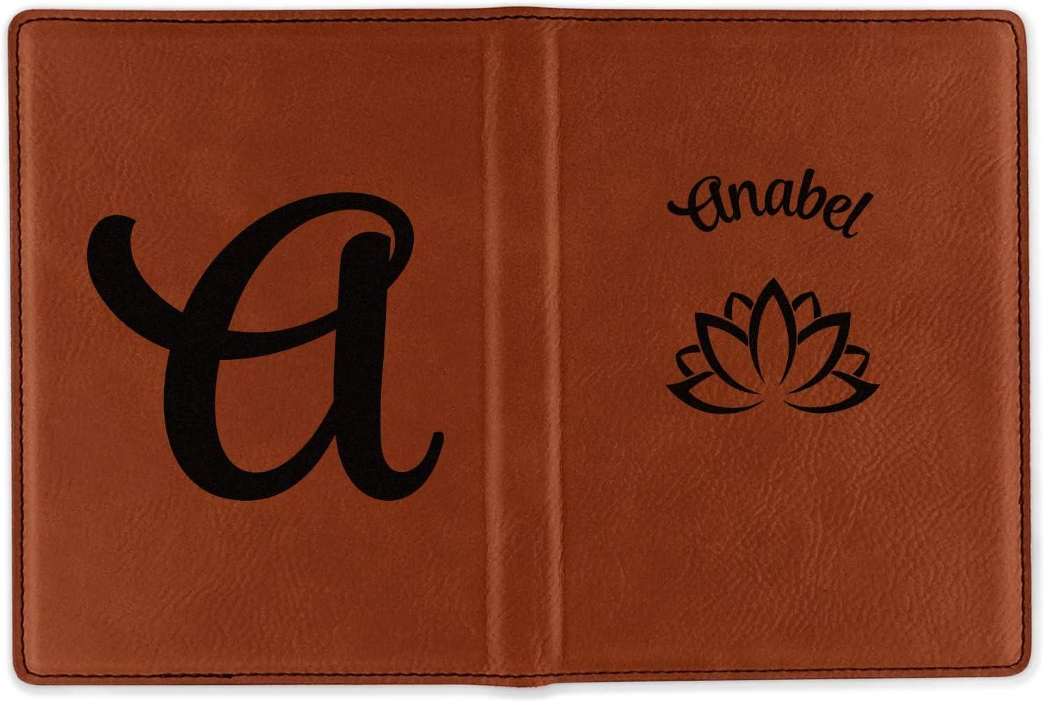 P125 travel accessories FREE name monogram Custom Personalized PU leather Passport Holder travel wallet travel holder Cute Bear /& Rabbit