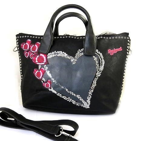 Bolsa de diseñador Desigualrojo negro (el amor).: Amazon ...