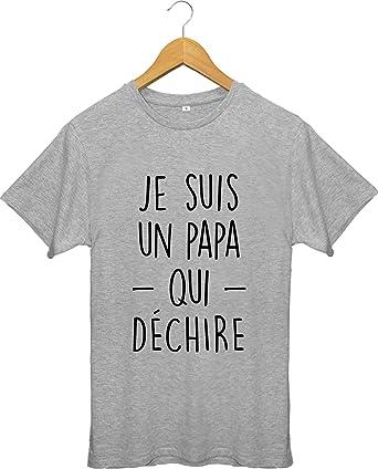 c3ae7348717b9 Bichette T-Shirt Je suis Un Papa Qui déchire: Amazon.fr: Vêtements et  accessoires