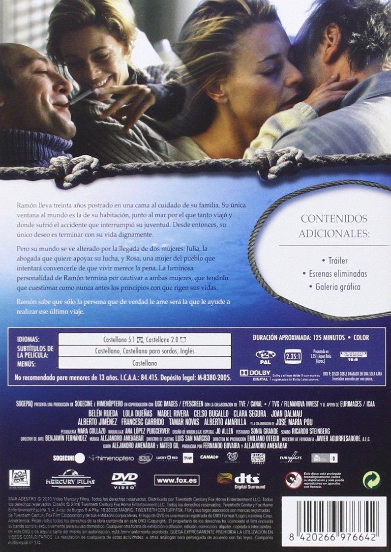 Mar Adentro [DVD]: Amazon.es: Javier Bardem, Belén Rueda ...