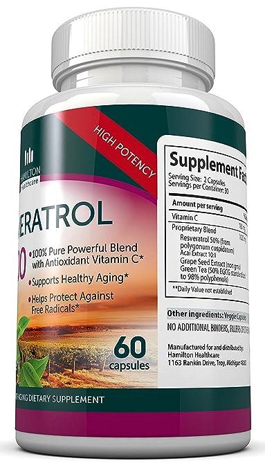 Healthy Cardiovascular 2b Resveratrol Supreme 1200mg Self-Conscious Resveratrol Powder