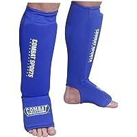 Deportes de Combate Lavable Gamuza de MMA Elástico Shin & Instep Acolchada Espinilleras para Muay Thai Kickboxing Formación Sparring de protección