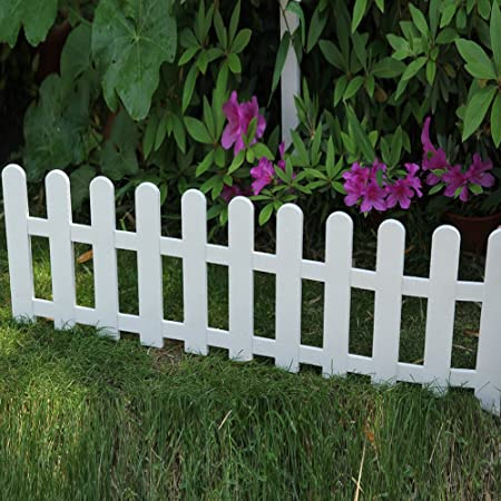 Decorative Outdoor Picket Fence White  from images-na.ssl-images-amazon.com