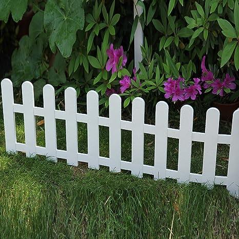 Sungmor Decorative DIY Plastic Garden Fence,48in.L16in.H,Outdoor Edging  Gates