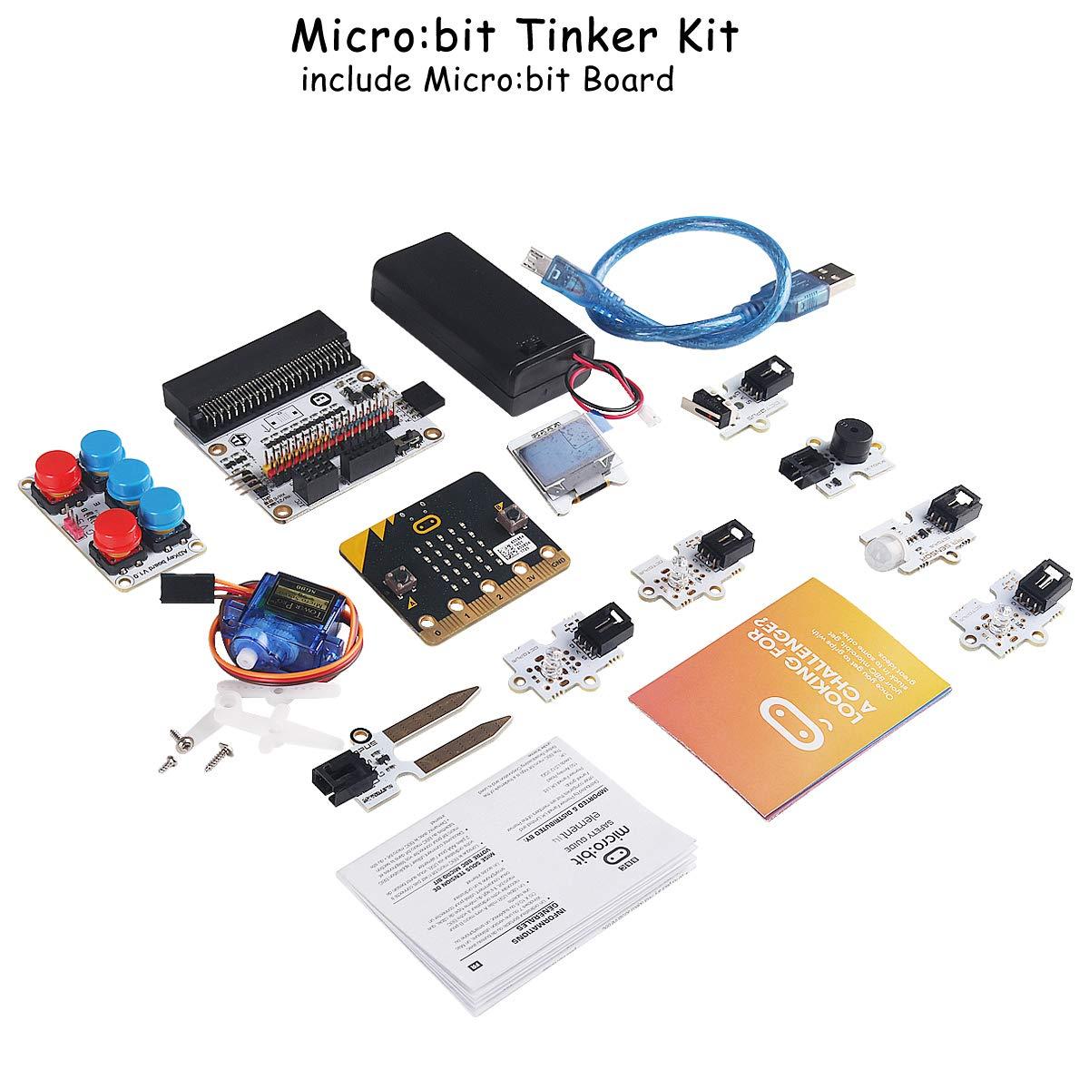 MakerFocus BBC Micro:bit Starter Kit Tinker Kit Include Micro:bit Board, Micro:bit Breakout Board, Octopus PIR Sensor Module Used for Classroom Teaching and for DIY Beginners