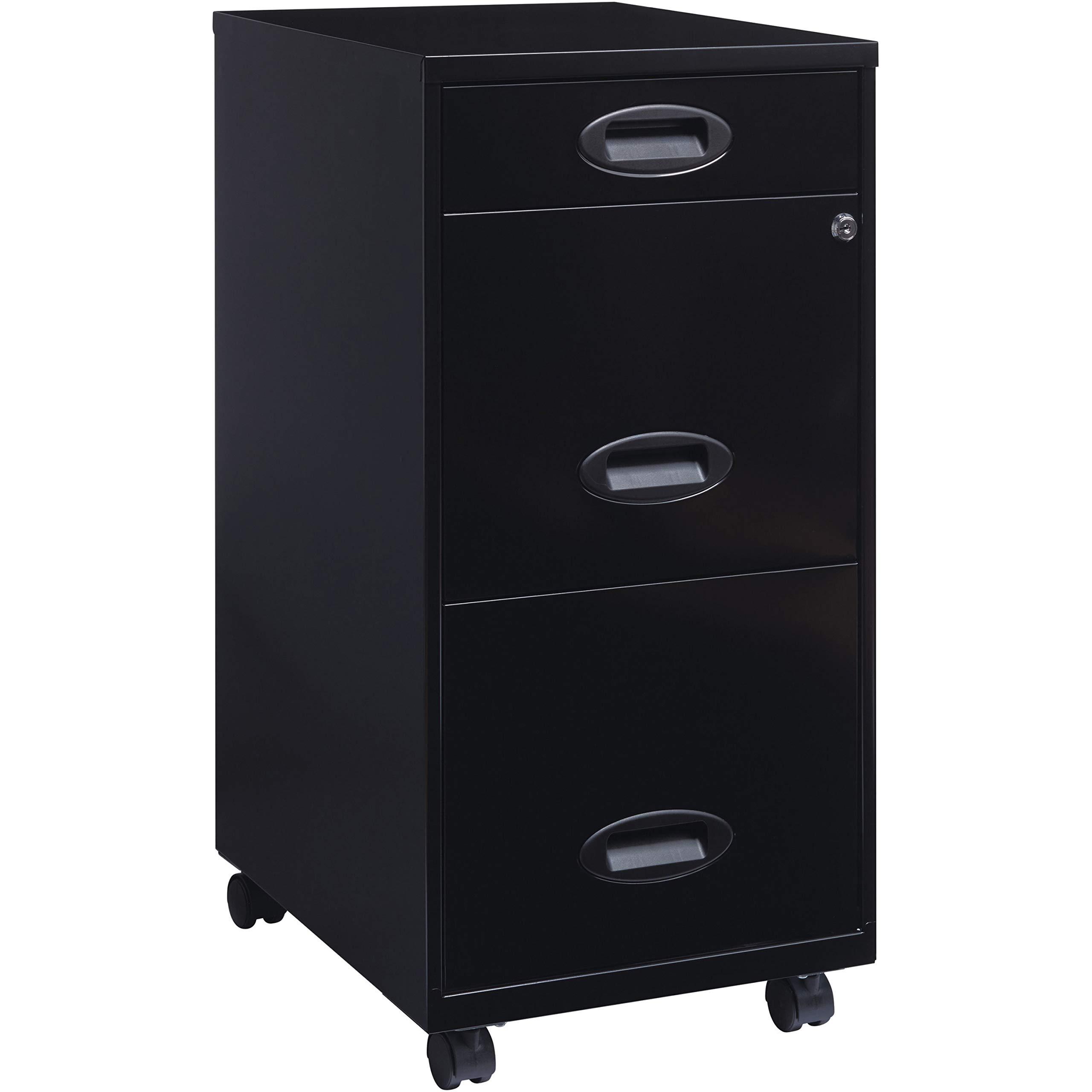 Lorell LLR17427 SOHO Mobile Cabinet, Black