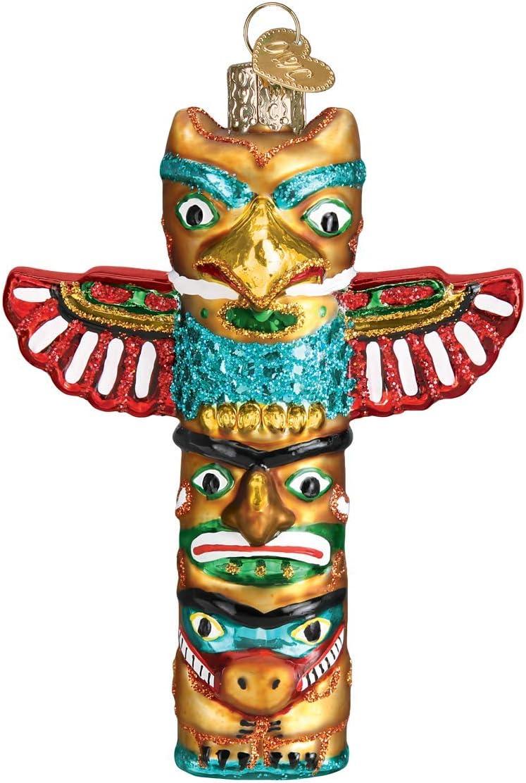 Old World Christmas Totem Pole Ornament, Multi