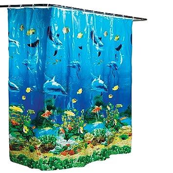 Amazon.com: Dolphin Bay Under the Sea Shower Curtain: Home & Kitchen