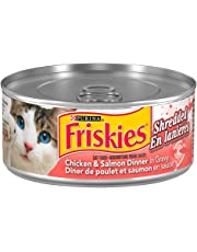 Purina® Friskies® Shredded Chicken & Salmon Dinner Cat Food 156g Can