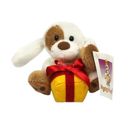 Mylo+Friends AD 767 perro pequeño animal de peluche con el regalo de color amarillo