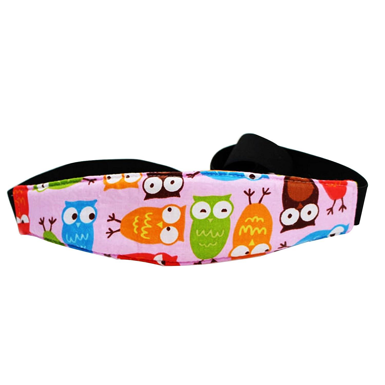 Enfant support de tête, Hinmay Adorable Motif chouette réglable Siège auto veille/Nap/Aid support ceinture pour enfants bébé enfant, Cou Soulagement Cale-Bébé