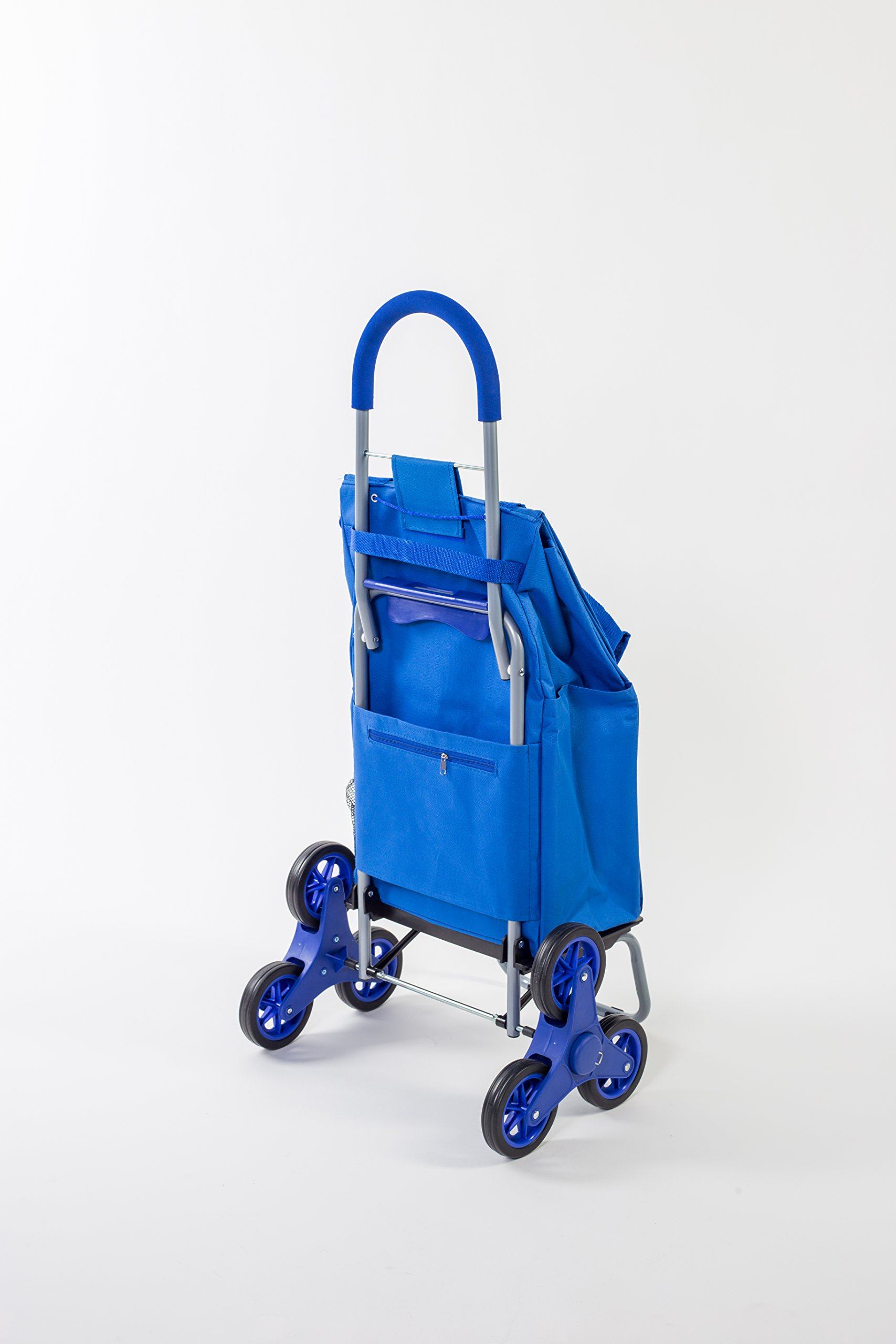 dbest products Stair Climber Trolley Dolly, Blue Shopping Grocery Foldable Cart Condo Apartment by dbest products (Image #2)