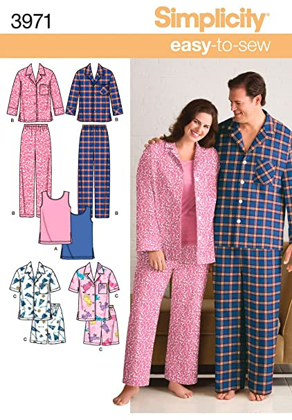 1ed31c71c59c Image Unavailable. Image not available for. Color  Simplicity Easy To Sew  Men and Women s ...