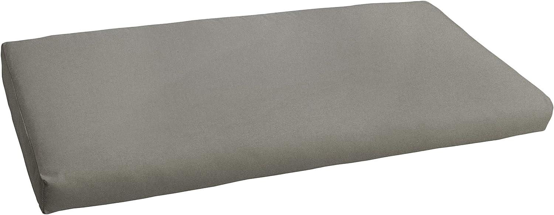 "Mozaic AMCS111722 Indoor or Outdoor Sunbrella Bench Cushion, 60"", Canvas Charcoal"
