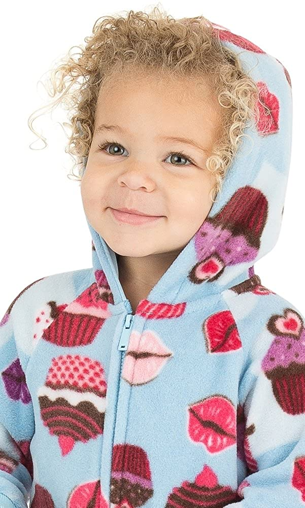 cdadf76be Footed Pajamas - Blue Cupcakes Infant Hoodie Fleece Onesie - blog ...
