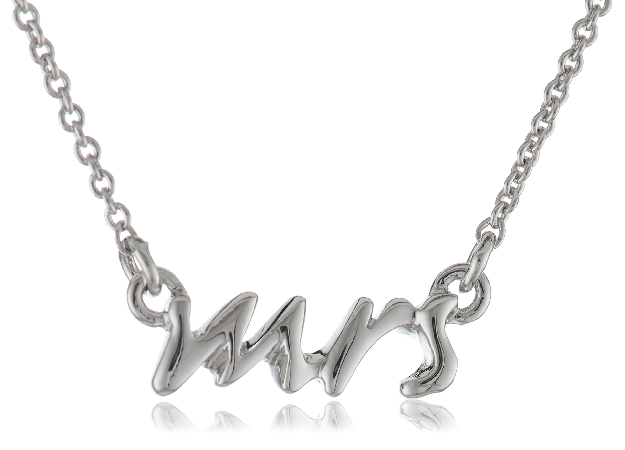 Kate Spade New York Say Yes Silver-Tone Mrs. Necklace, 16''