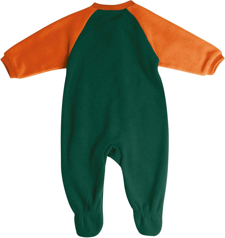 Pro Edge Infants NCAA University of Miami Hurricanes Fleece Blanket Sleeper Foot Pajamas
