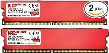 DDR2 DIMM 800Mhz KOMPUTERBAY 8GB 2 X 4GB 240 PIN