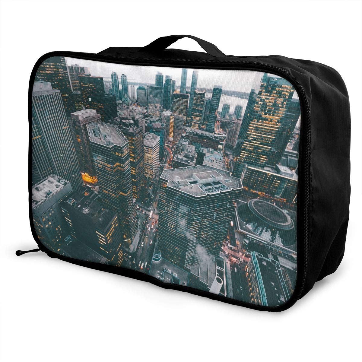 Travel Luggage Duffle Bag Lightweight Portable Handbag New York City Large Capacity Waterproof Foldable Storage Tote
