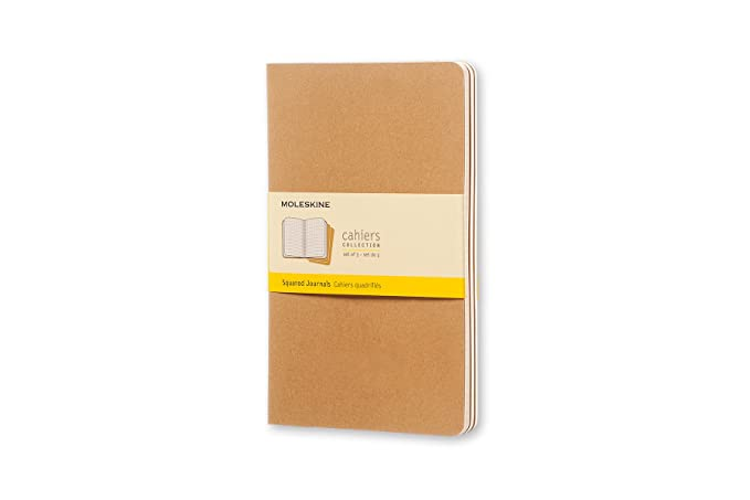 Moleskine Cahier Soft Cover Journal Set Of 3 Squared