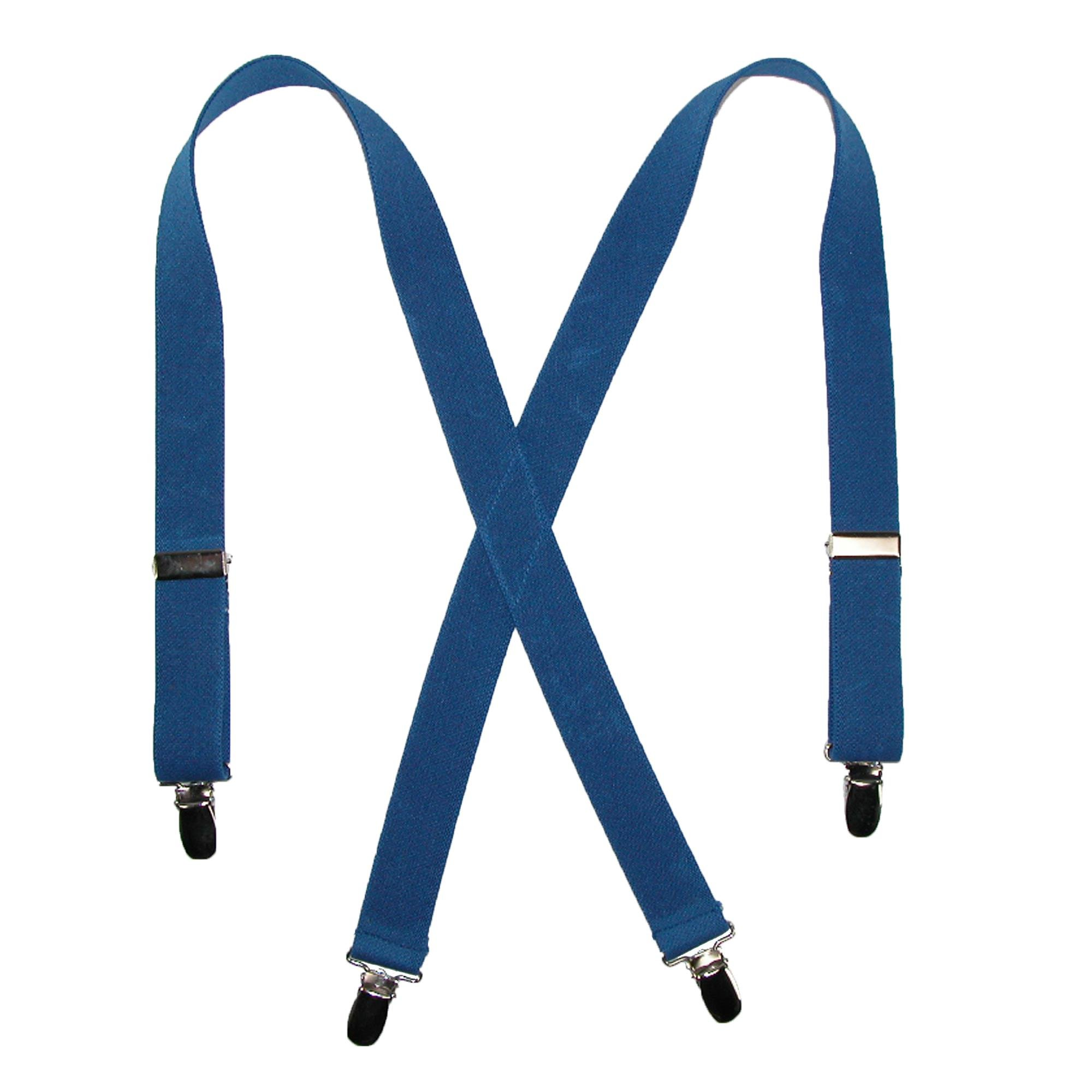 CTM Kids' Elastic Clip-End 1 Inch Solid Suspenders, Royal Blue