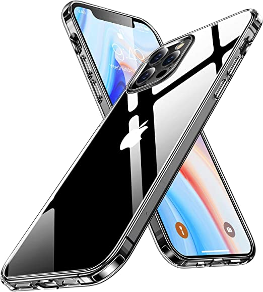 Humixx Clear iPhone 12 Case, iPhone 12 Pro Case [Diamond Grade Anti-Yellow] Shockproof Protective Phone Case for iPhone 12/12 Pro, Slim Thin Case ...