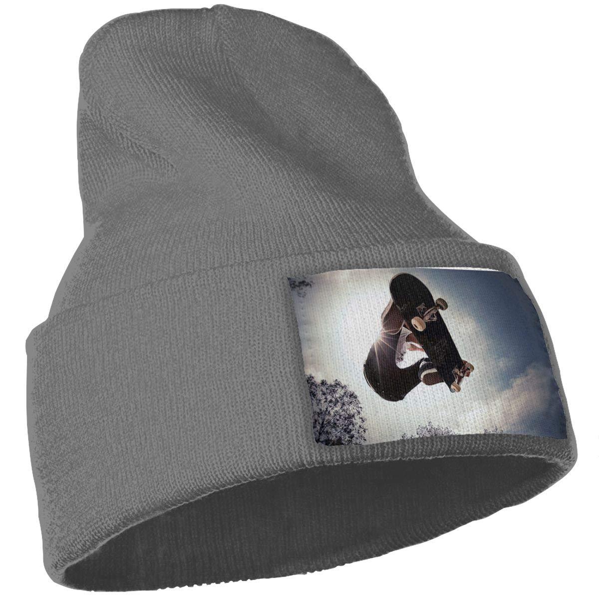 Yubb7E Photo Warm Knit Winter Solid Beanie Hat Unisex Skull Cap