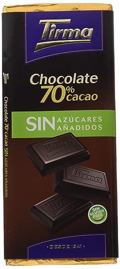 Tirma Chocolate 70% Cacao sin Azúcares Añadidos - 6 Unidades x 75 gr