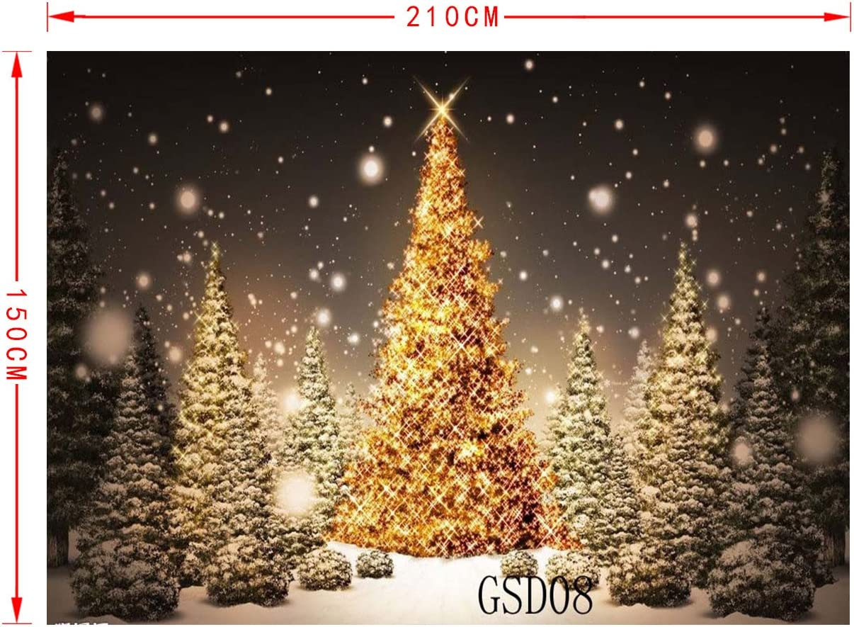LB 7x5ft Xmas Tree Poly Fabric Christmas Photography Backdrops Customized Studio Background Photo Backdrop Studio Props GSD08