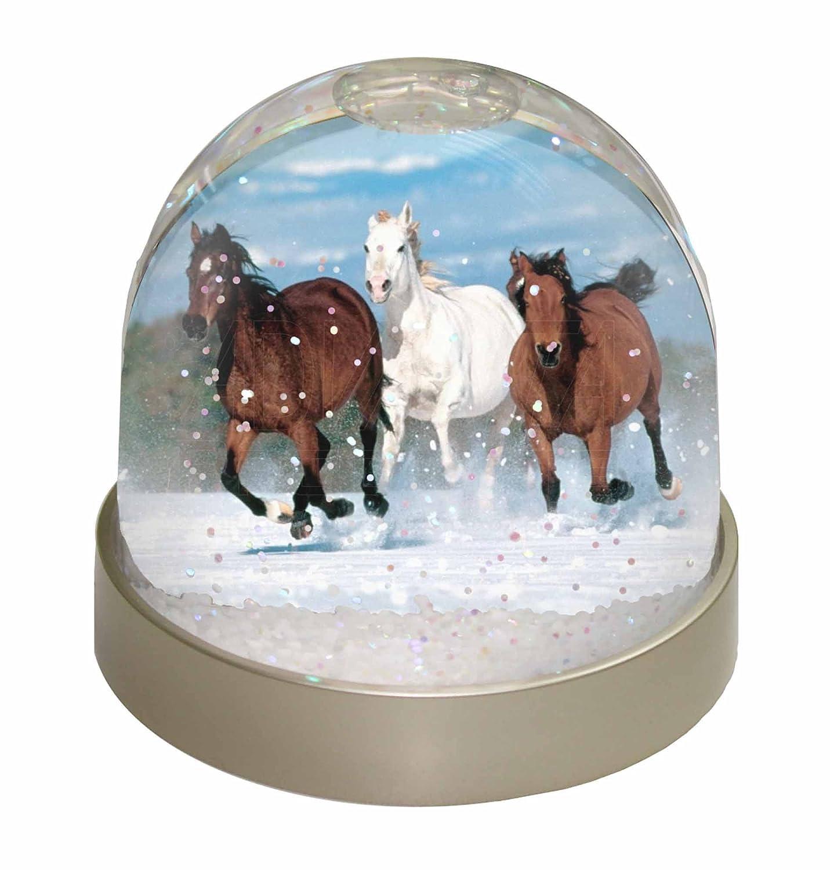Advanta Running Horses Snow Waterball, Multi-Colour, 9.2 x 9.2 x 8 cm Advanta Products AH-1GL