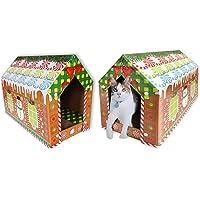 ASPCA Gingerbread Cat House & Scratching Pad, Bonus Catnip Included
