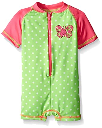 b64e33b853 Amazon.com: Wippette Baby Girls' Polka Dot with Butterfly 1 Piece Swim:  Clothing