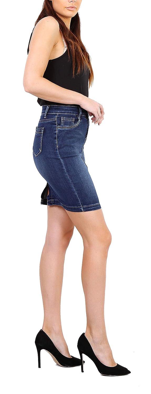 Onado Jupe Femme en Jeans Mini Jupe Crayon Casual Courte Stretch Taille 36 au 44