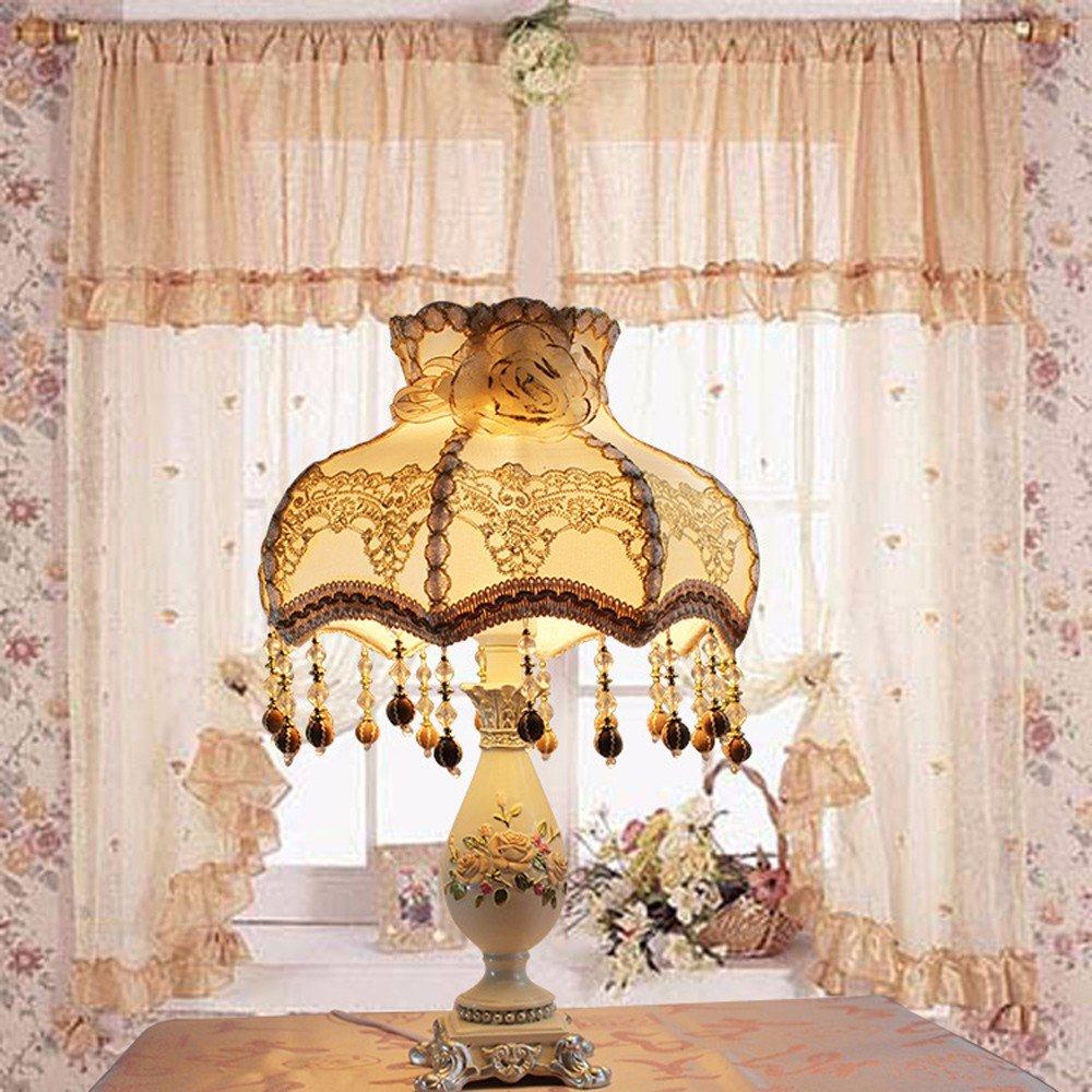 negozio di sconto GTVERNHEuropean style table lamp, retro retro retro luxury creative lace desk lamp  l'intera rete più bassa