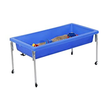 Children S Factory Extra Large Activity Table And Lid Set 50 By 26 By 24 Blue Fill With Water Sand Beads And More Lid For Safe Clean