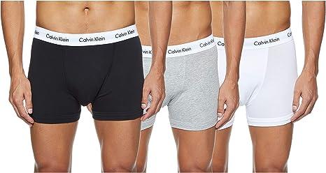 TALLA L. Calvin Klein Cotton Stretch, 3p Trunk, Bóxer para Hombre