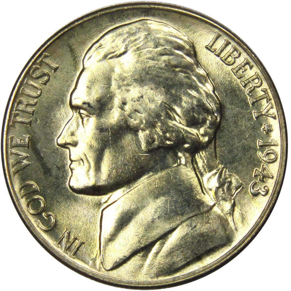 U.S Uncirculated American Five Cent Coin Philadelphia 1958 P Jefferson Nickel