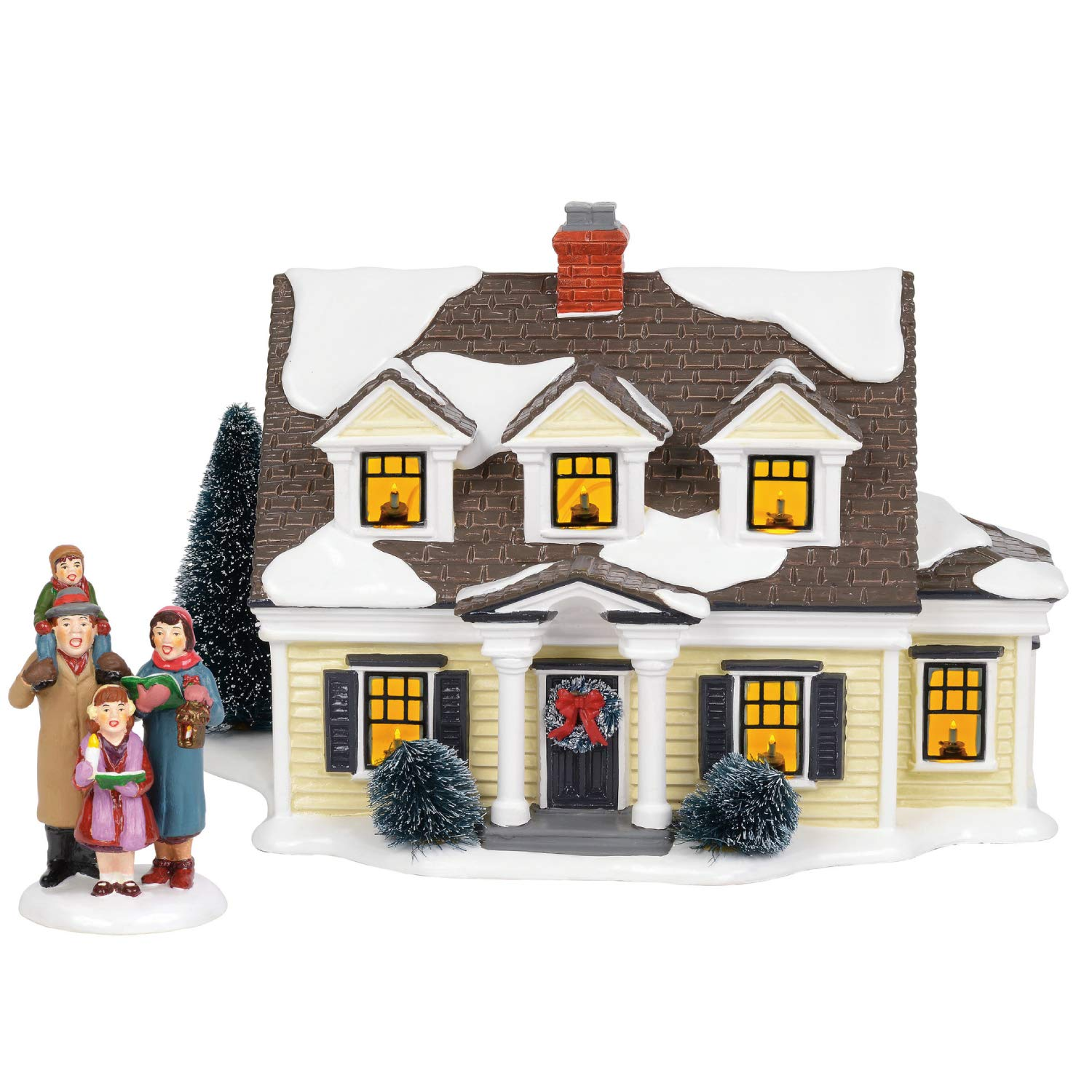 Department56 Original Snow Village Welcoming Christmas Lit Building and Accessory, 7.09'', Multicolor